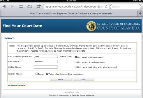 Lynch court date