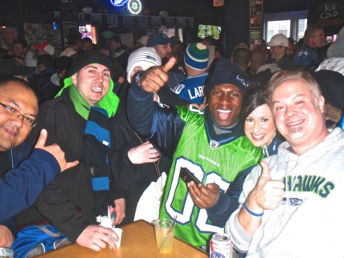 12's pre-gaming in the Hawks Nest Bar & Grill before the 2011 playoff game against the Saints.