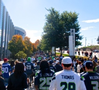 The 12th Man marches to the Georgia Dome