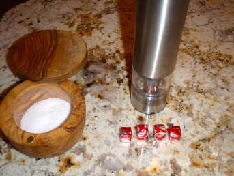 Salt, Pepper, and Beef Bouillon Cubes